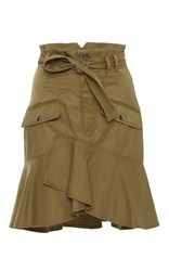 Marissa Webb Rocco Ruffle Skirt Brown