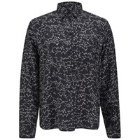 Surface To Air Women's Zulu Print Silk Shirt Electrical Marble Black