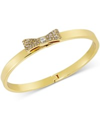 Kate Spade New York Gold Tone Pave Bow Bangle Bracelet