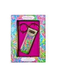 Lilly Pulitzer Printed Goldtone Keychain No Color