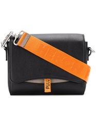 Heron Preston Flap Shoulder Bag Black