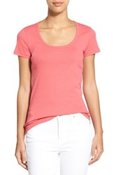 Women's Caslon Short Sleeve Scoop Neck Tee Red Chateaux