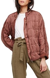 Free People Women's Dolman Quilted Jacket Terracotta