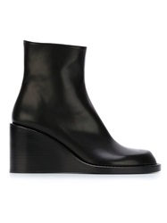 Ann Demeulemeester Blanche Wedge Boots Black