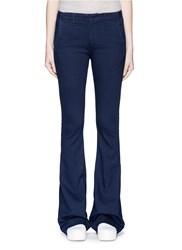 Rag And Bone Bell Bottom Denim Pants Blue