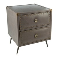 Amara Leather Studded Drawers Taupe