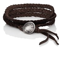 Feathered Soul Indiana Wrap Bracelet Brown