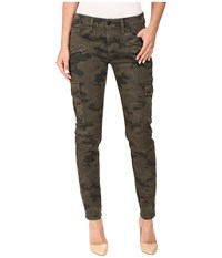 Hudson Colby Ankle Moto Skinny Cargo In Rustic Camo Rustic Camo Women's Jeans Brown
