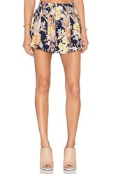 Lucca Couture Mini Skirt Navy