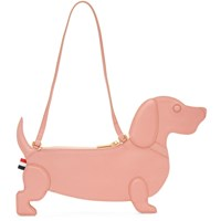 Thom Browne Pink Hector Icon Flat Clutch Bag