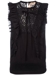 N 21 No21 Lace And Ruffle Tank Black