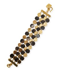 Ashley Pittman Dark Horn And Bronze 4 Chain Bracelet Neutral Pattern