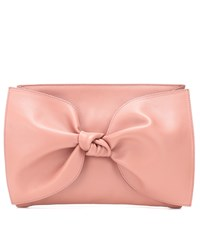 Ulla Johnson Tali Leather Clutch Pink