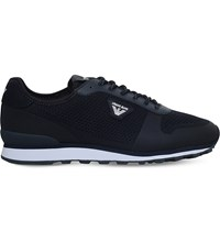 Armani Jeans The Gym Mesh Trainers Navy