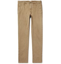 Incotex Slim Fit Stretch Cotton Corduroy Trousers Sand