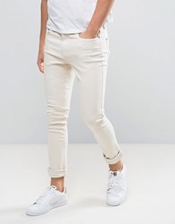 Hoxton Denim Super Skinny Jeans In Dusty Pink Pink