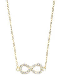 B. Brilliant Cubic Zirconia Infinity Pendant Necklace In 18K Gold Over Sterling Silver 1 4 Ct. T.W.