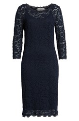 Rosemunde Delicia Lace Body Con Dress Dark Blue