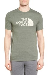 The North Face Men's Half Dome Graphic T Shirt Thyme Heather Rainy Day