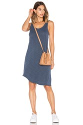 Wilt Slub Twisted Hem Tank Dress Blue