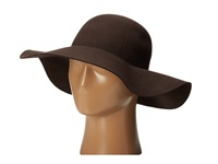 Scala Wool Felt Big Brim Hat Chocolate Caps Brown