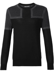 Neil Barrett Colour Block Jumper Black