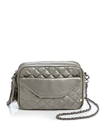 Sjp By Sarah Jessica Parker King Metallic Quilted Crossbody Anthracite