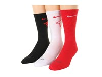 Nike Dri Fit Fly Crew 3 Pair Pack University Red White White University Red Black University Red Crew Cut Socks Shoes Multi