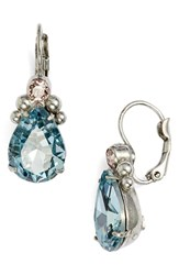 Sorrelli Embellished Pear Crystal Drop Earrings Blue