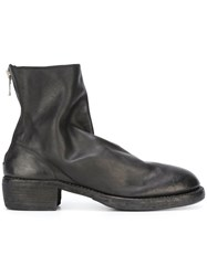 Guidi Rear Zip Boots Black