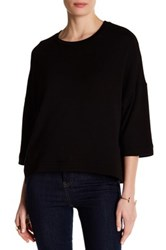 Heather By Bordeaux Boxy Pullover Black