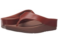Fitflop Ringer Toe Post Dark Tan Women's Sandals Brown