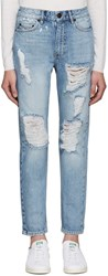 Won Hundred Blue Two Light Vintage Jeans