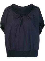 Tsumori Chisato Blouse With Structured Collar Blue