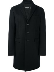 Dsquared2 Single Breasted Short Coat Black