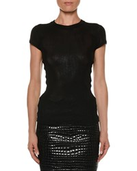 Tom Ford Crewneck Short Sleeve Knit Muscle Tee Black
