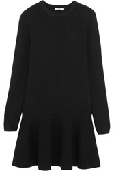 Ganni Merino Wool Blend Mini Dress Black