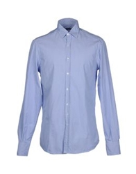 Original Vintage Style Long Sleeve Shirts Sky Blue