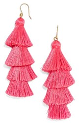 Baublebar Women's Gabriela Fringe Earrings Bright Pink