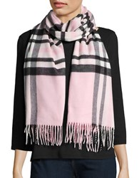 Lord And Taylor Plaid Blanket Wrap Scarf Pink