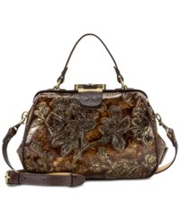 Patricia Nash Gracchi Small Frame Satchel A Macy's Exclusive Style Chocolate Gold