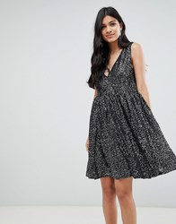 Deby Debo Techna Sequined Mini Dress Black