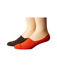 Cole Haan 2 Pack Casual Cushion Liner Deep Espresso Spicy Orange Men's Crew Cut Socks Shoes Brown