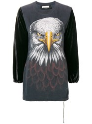 Night Market Eagle Print Sweatshirt Grey