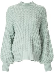 57848b9617a Zimmermann Cable Knit Sweater Blue