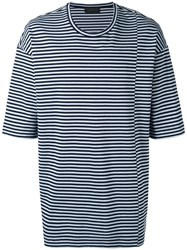 Diesel Black Gold Taitan Stripe T Shirt Men Cotton Xl Blue