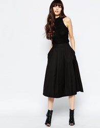Selected Matti Full Midi Skirt Black