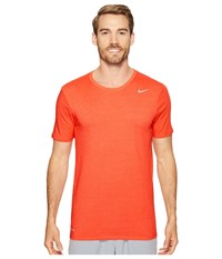 Nike Dri Fit Version 2.0 T Shirt Track Red Sunset Glow Men's T Shirt Orange