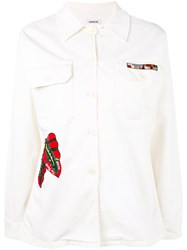 P.A.R.O.S.H. Sequin Embroidered Jacket Women Cotton Spandex Elastane M White