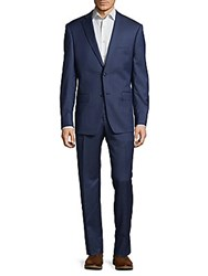 Michael Kors Modern Fit Elegant Solid Formal Suit Blue